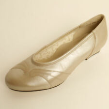 Equity Martha Leather Court Shoe Stone Pearl EE Fitting RRP £64.99
