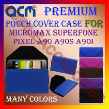 ACM-PREMIUM POUCH LEATHER CARRY CASE for MICROMAX SUPERFONE PIXEL A90 A90S A90I