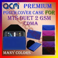 ACM-PREMIUM POUCH LEATHER CARRY CASE for MTS DUET 2 GSM CDMA MOBILE COVER HOLDER