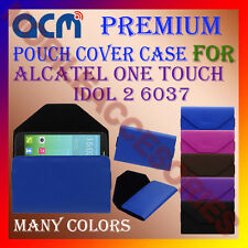 ACM-PREMIUM POUCH LEATHER CARRY CASE for ALCATEL ONE TOUCH IDOL 2 6037 COVER NEW