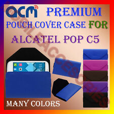 ACM-PREMIUM POUCH LEATHER CARRY CASE for ALCATEL POP C5 MOBILE COVER HOLDER NEW