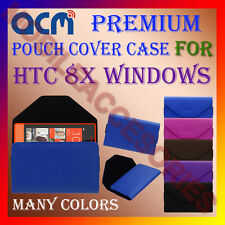 ACM-PREMIUM POUCH LEATHER CARRY CASE for HTC 8X WINDOWS MOBILE COVER HOLDER NEW