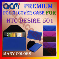 ACM-PREMIUM POUCH LEATHER CARRY CASE for HTC DESIRE 501 MOBILE COVER HOLDER NEW