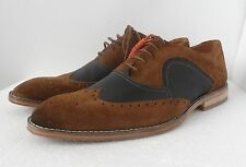 CLARKS MENS ACER BROGUES BROWN LEATHER COMBI  LACE UP SHOES UK SIZE 8,9 G