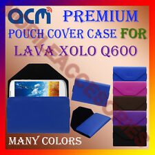ACM-PREMIUM POUCH LEATHER CARRY CASE for LAVA XOLO Q600 MOBILE COVER HOLDER NEW