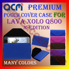 ACM-PREMIUM POUCH LEATHER CARRY CASE for LAVA XOLO Q800 X-EDITION MOBILE COVER