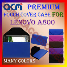 ACM-PREMIUM POUCH LEATHER CARRY CASE for LENOVO A800 MOBILE COVER HOLDER LATEST