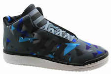 Adidas Originals Veritas Mid Mens Trainers Grey Blue Lace Up Shoes B34526 WH