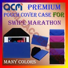 ACM-PREMIUM POUCH LEATHER CARRY CASE for SWIPE MARATHON MOBILE COVER HOLDER NEW