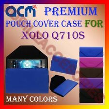 ACM-PREMIUM POUCH LEATHER CARRY CASE for XOLO Q710S MOBILE COVER HOLDER PROTECT