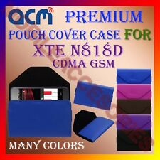 ACM-PREMIUM POUCH LEATHER CARRY CASE for XTE N818D CDMA GSM MOBILE COVER HOLDER