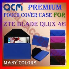 ACM-PREMIUM POUCH LEATHER CARRY CASE for ZTE BLADE QLUX 4G MOBILE COVER HOLDER
