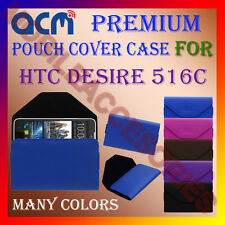 ACM-PREMIUM POUCH LEATHER CARRY CASE for HTC DESIRE 516C MOBILE COVER HOLDER NEW