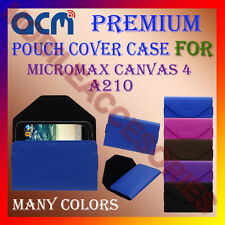 ACM-PREMIUM POUCH LEATHER CARRY CASE for MICROMAX CANVAS 4 A210 MOBILE COVER NEW