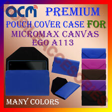 ACM-PREMIUM POUCH LEATHER CARRY CASE for MICROMAX CANVAS EGO A113 MOBILE COVER