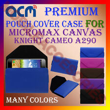 ACM-PREMIUM POUCH LEATHER CARRY CASE for MICROMAX CANVAS KNIGHT CAMEO A290 COVER