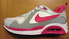 GIRL'S NIKE AIR MAX TRAX (GS) TRAINERS - WHITE+PINK+GREY - UK 5.5 - NEW