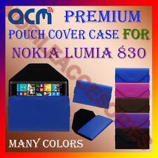 ACM-PREMIUM POUCH LEATHER CARRY CASE for NOKIA LUMIA 830 MOBILE COVER HOLDER NEW
