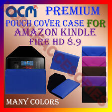 ACM-PREMIUM POUCH LEATHER CARRY CASE for AMAZON KINDLE FIRE HD 8.9 TABLET COVER