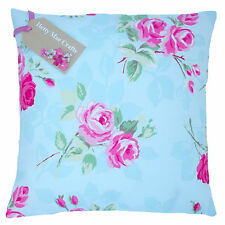 Vintage/Shabby Chic Clarke and Clarke Nancy Duck Egg Blue fabric Cushion Cover