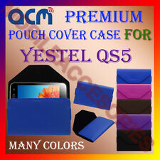 ACM-PREMIUM POUCH LEATHER CARRY CASE for YESTEL QS5 MOBILE COVER HOLDER PROTECT