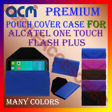 ACM-PREMIUM POUCH LEATHER CARRY CASE for ALCATEL ONE TOUCH FLASH PLUS COVER NEW