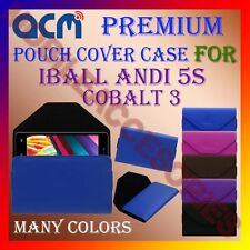 ACM-PREMIUM POUCH LEATHER CARRY CASE for IBALL ANDI 5S COBALT 3 MOBILE COVER NEW