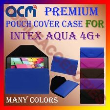 ACM-PREMIUM POUCH LEATHER CARRY CASE for INTEX AQUA 4G+ MOBILE COVER HOLDER NEW