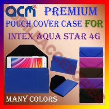 ACM-PREMIUM POUCH LEATHER CARRY CASE for INTEX AQUA STAR 4G MOBILE COVER HOLDER
