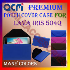 ACM-PREMIUM POUCH LEATHER CARRY CASE for LAVA IRIS 504Q MOBILE COVER HOLDER NEW