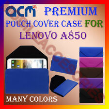 ACM-PREMIUM POUCH LEATHER CARRY CASE for LENOVO A850 MOBILE COVER HOLDER LATEST