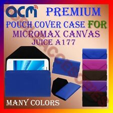 ACM-PREMIUM POUCH LEATHER CARRY CASE for MICROMAX CANVAS JUICE A177 MOBILE COVER