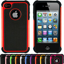 Hybride Dur Antichoc Armure Defender Coque Etui Robuste pour Apple iPhone 4/4s