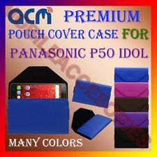 ACM-PREMIUM POUCH LEATHER CARRY CASE for PANASONIC P50 IDOL MOBILE COVER HOLDER