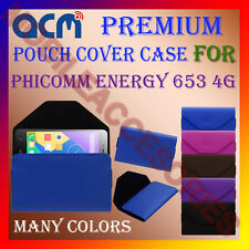 ACM-PREMIUM POUCH LEATHER CARRY CASE for PHICOMM ENERGY 653 4G MOBILE COVER NEW