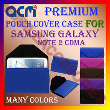 ACM-PREMIUM POUCH LEATHER CARRY CASE for SAMSUNG GALAXY NOTE 2 CDMA MOBILE COVER