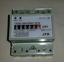 kilowatt kwh meter din rail mount 100amp 230 volt CE with or without enclosure