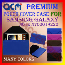 ACM-PREMIUM POUCH LEATHER CARRY CASE for SAMSUNG GALAXY NOTE N7000 I9220 COVER