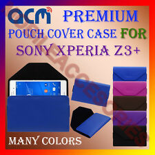 ACM-PREMIUM POUCH LEATHER CARRY CASE for SONY XPERIA Z3+ MOBILE COVER HOLDER NEW