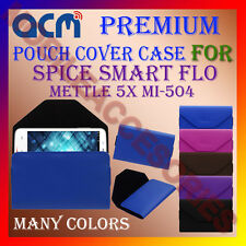 ACM-PREMIUM POUCH LEATHER CARRY CASE for SPICE SMART FLO METTLE 5X MI-504 COVER