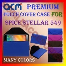 ACM-PREMIUM POUCH LEATHER CARRY CASE for SPICE STELLAR 549 MOBILE COVER HOLDER