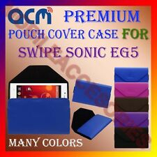 ACM-PREMIUM POUCH LEATHER CARRY CASE for SWIPE SONIC EG5 MOBILE COVER HOLDER NEW