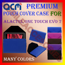 ACM-PREMIUM POUCH LEATHER CARRY CASE for ALACTEL ONE TOUCH EVO 7 TABLET COVER