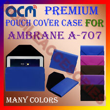 ACM-PREMIUM POUCH LEATHER CARRY CASE for AMBRANE A-707 TABLET COVER HOLDER NEW