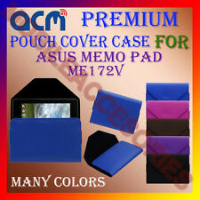 ACM-PREMIUM POUCH LEATHER CARRY CASE for ASUS MEMO PAD ME172V TABLET TAB COVER