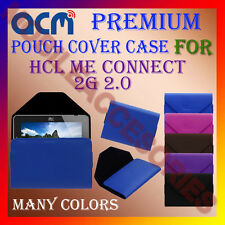 ACM-PREMIUM POUCH LEATHER CARRY CASE for HCL ME CONNECT 2G 2.0 TABLET TAB COVER