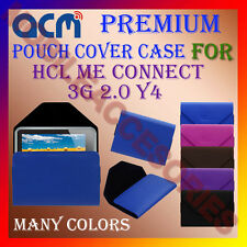 ACM-PREMIUM POUCH LEATHER CARRY CASE for HCL ME CONNECT 3G 2.0 Y4 TABLET COVER