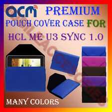 ACM-PREMIUM POUCH LEATHER CARRY CASE for HCL ME U3 SYNC 1.0 TABLET COVER HOLDER