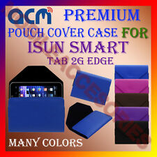 ACM-PREMIUM POUCH LEATHER CARRY CASE for ISUN SMART TAB 2G EDGE TAB COVER HOLDER