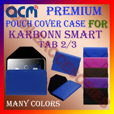 ACM-PREMIUM POUCH LEATHER CARRY CASE for KARBONN SMART TAB 2/3 TABLET TAB COVER